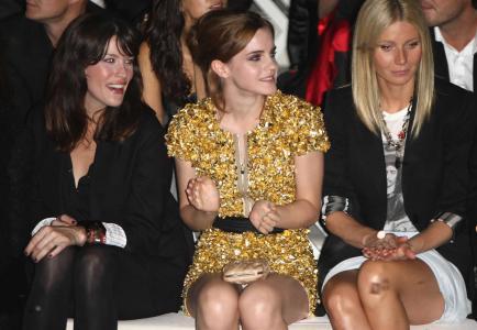 Emma Watson @ Burberry Prorsum SS 2010 Show in London Upskirt 1