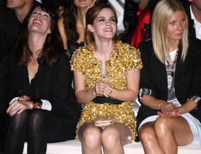 Emma Watson @ Burberry Prorsum SS 2010 Show in London Upskirt 2