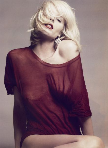 Eva Herzigova - See-through - Vogue Paris Oct 2009