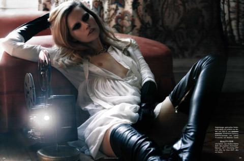 Cato van Ee - topless in German Vogue Sept 2009