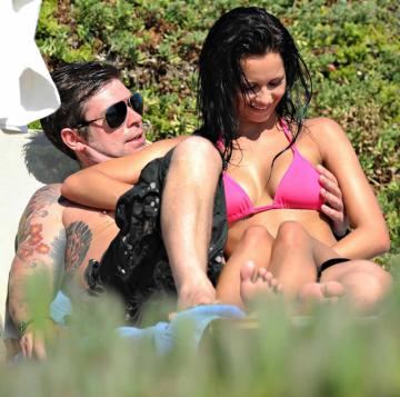 Jessica Jane Clement - Boobs Grabbed - Pink Bikini in Cyprus - Oct 25 003