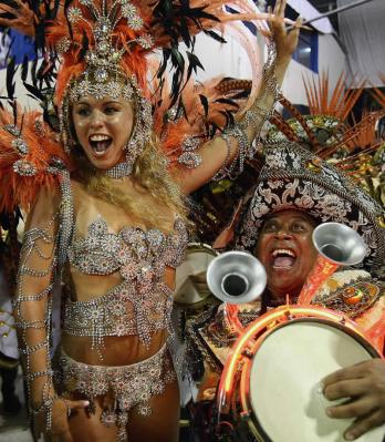 Brazillian dancers from Carnivale in Rio 2