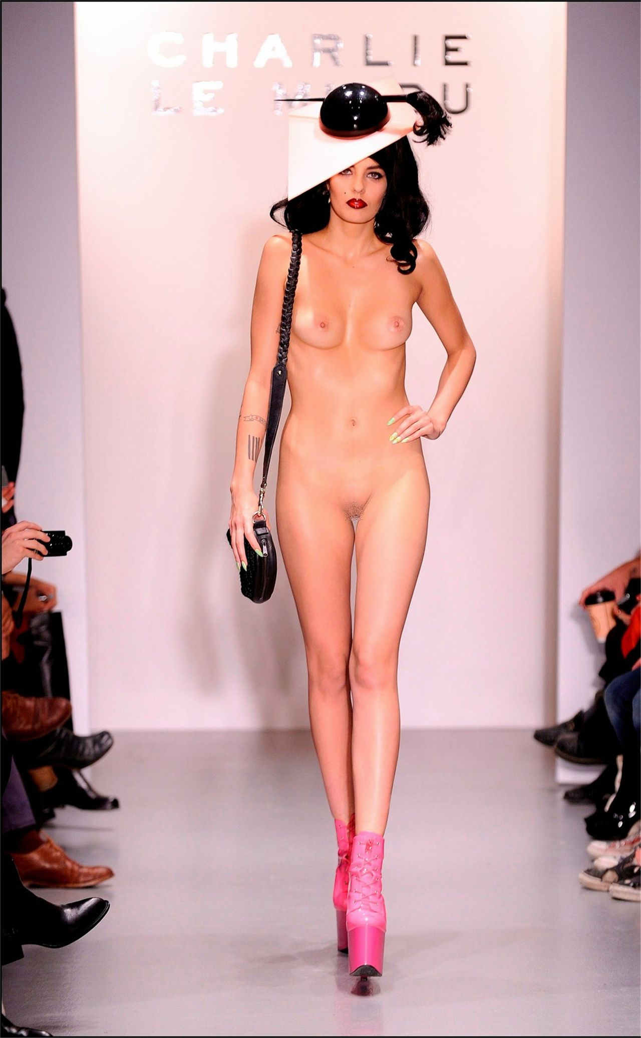 Delightful Nude runway models pussies that can