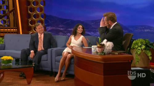 Vanessa flashing her panties on Conan