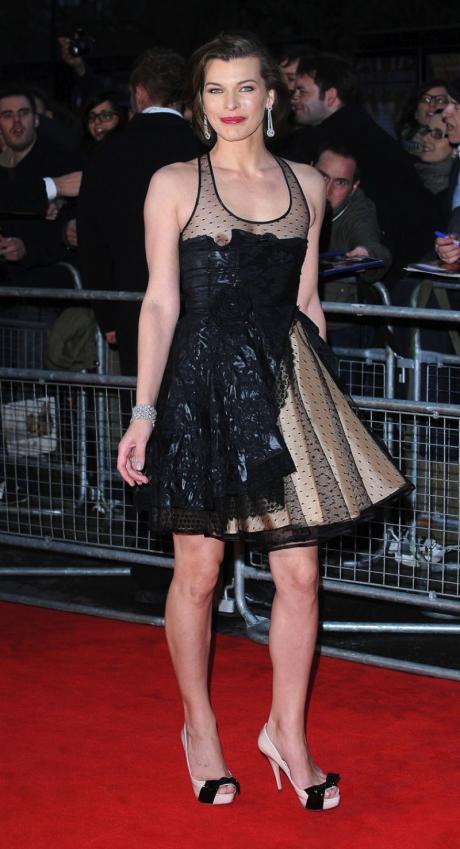Milla Jovovich Nip Slip - Royal Albert Hall in London (1)