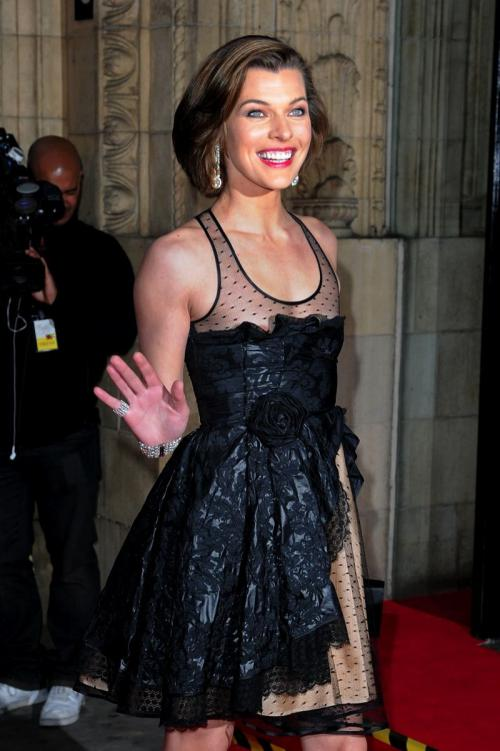 Milla Jovovich Nip Slip - Royal Albert Hall in London