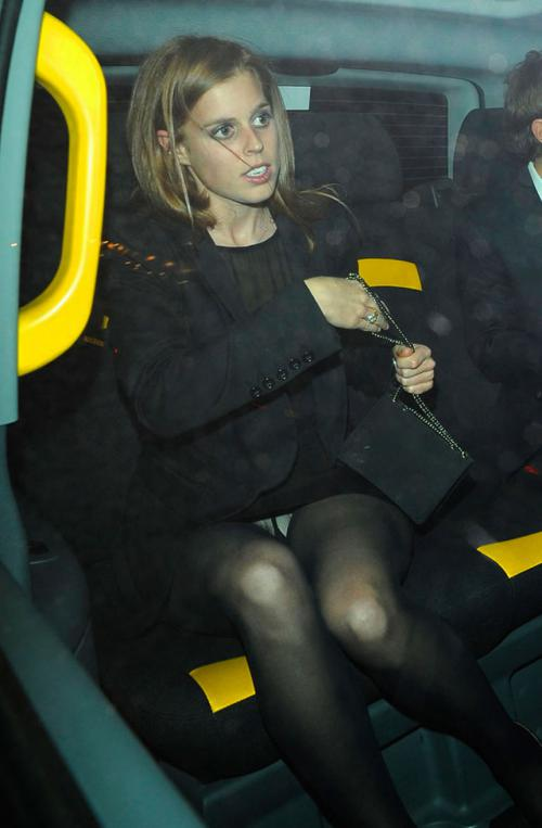 Princess Beatrice Upskirt car in London