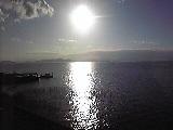 琵琶湖朝日