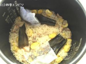 栗の豆乳炊き込みごはん その6