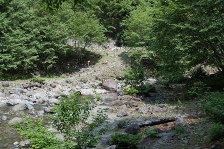 河原への取り付き口