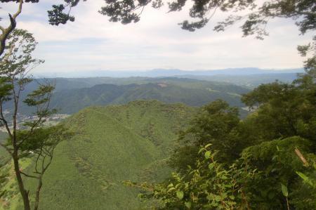 山頂付近からの高原山方面