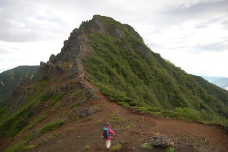 横岳への稜線1