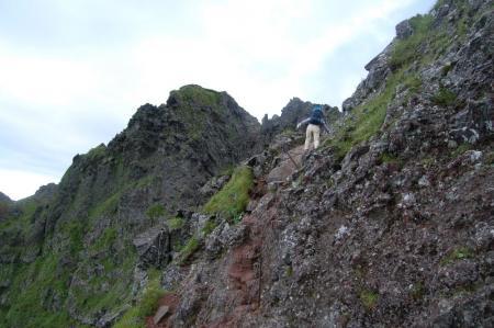 横岳への稜線3.