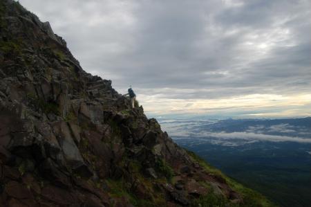 横岳への稜線4