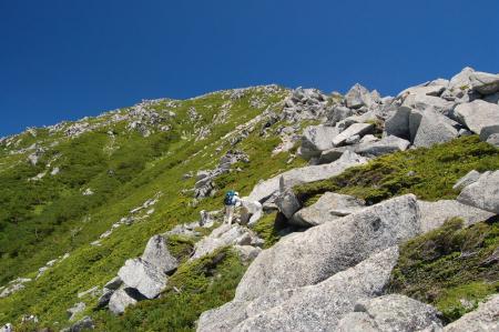 前常念への登山道1