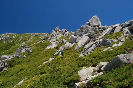 前常念への登山道2