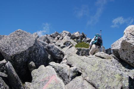 前常念への登山道3