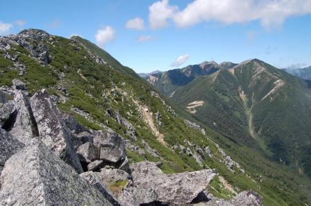 前常念への登山道5