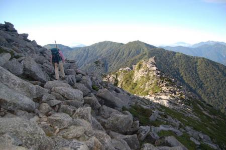 蝶が岳への登山道1