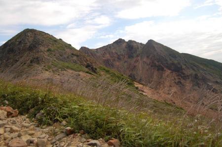 剣が峰と朝日岳