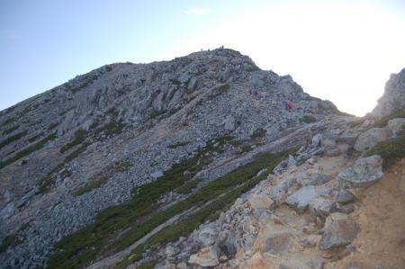 鷲羽岳山頂直下