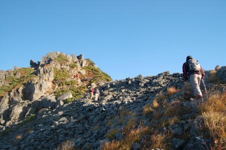 ワリモ岳山頂直下