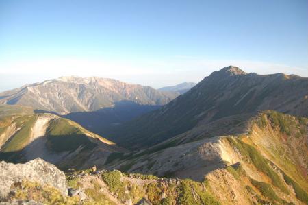 ワリモ岳から水晶岳への稜線