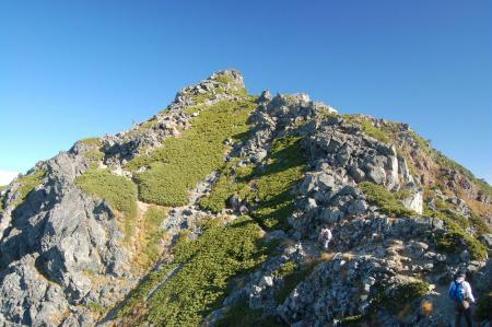 水晶岳山頂直下