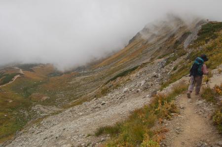 双六岳への稜線