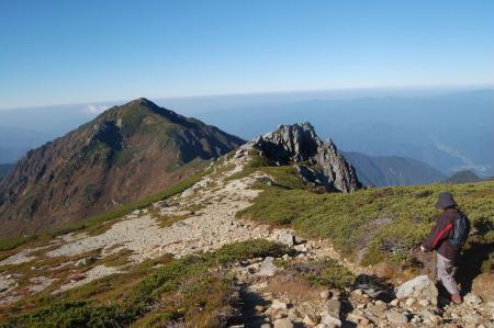 三ノ沢岳への分岐