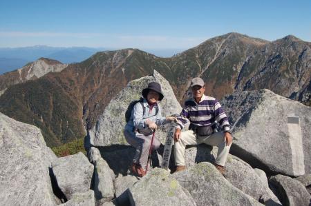 三ノ沢岳山頂