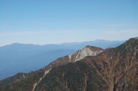 乗鞍岳・北アルプスの山並