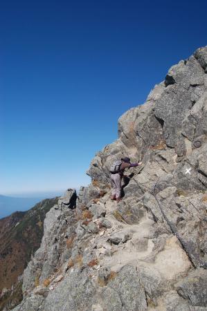 宝剣岳への登り