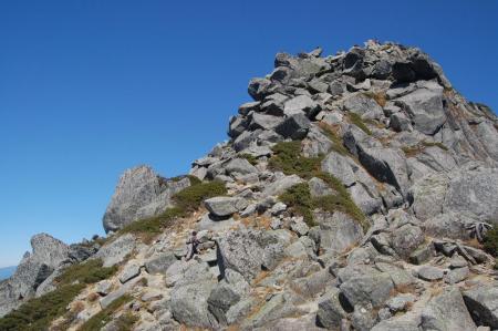 宝剣岳山頂直下