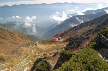 宝剣岳からの千畳敷