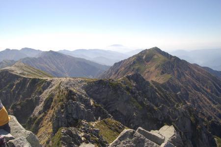 宝剣岳山頂から