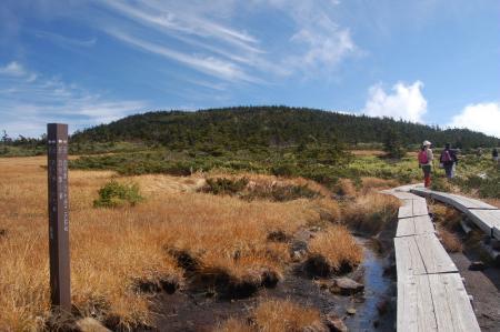西吾妻山への分岐