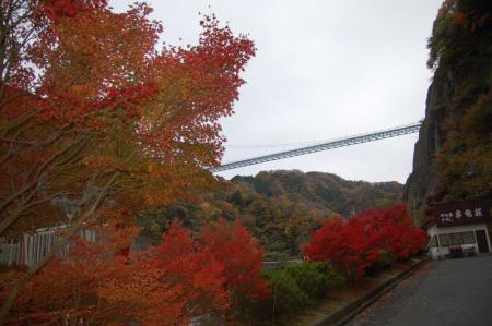 ダム管理事務所から見る大吊橋