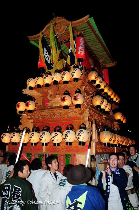 (西条祭り2008) 若葉町だんじり(屋台)2 加茂神社例祭(福武祭)その5 西条市福武 加茂神社 2008.10.12