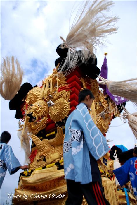 (西条市の祭り) 嘉母(かも)神社祭札(例大祭)宮出し(10) 禎瑞八幡(やわた)子供太鼓台(1) 西条市禎瑞 嘉母神社にて 2008年10月12日