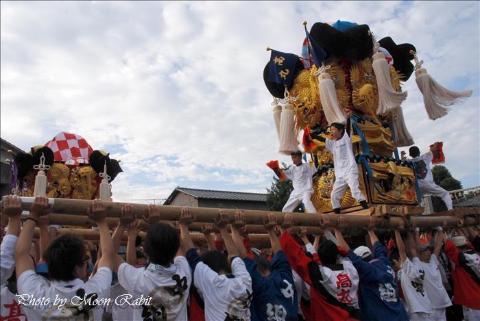 (西条市の祭り) 嘉母(かも)神社祭札(例大祭)宮出し(9) 禎瑞高丸子供太鼓台(2) 西条市禎瑞 嘉母神社にて 2008年10月12日