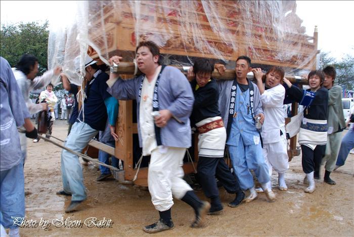 (西条祭り・氷見石岡神社祭礼) 本殿祭 西泉だんじり(屋台) 桜の馬場・参道にて 西条市氷見 2008年10月14日