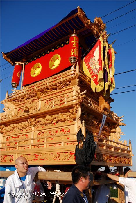 (西条祭り) 石岡神社祭礼奉納屋台 総集編 上之浦(上の浦)だんじり(屋台) 渡御行列 西条市氷見新兵衛付近 2008年10月15日