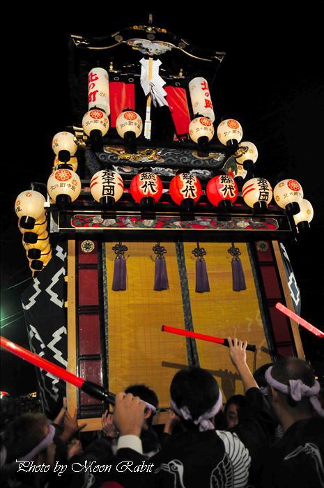 (西条祭り2008) 伊曽乃神社祭礼(例大祭、祭り) 御旅所(お旅所) その80 北之町中組(北の町中組、北の丁中組) 西条市大南 御旅所(お旅所)前にて 2008年10月16日