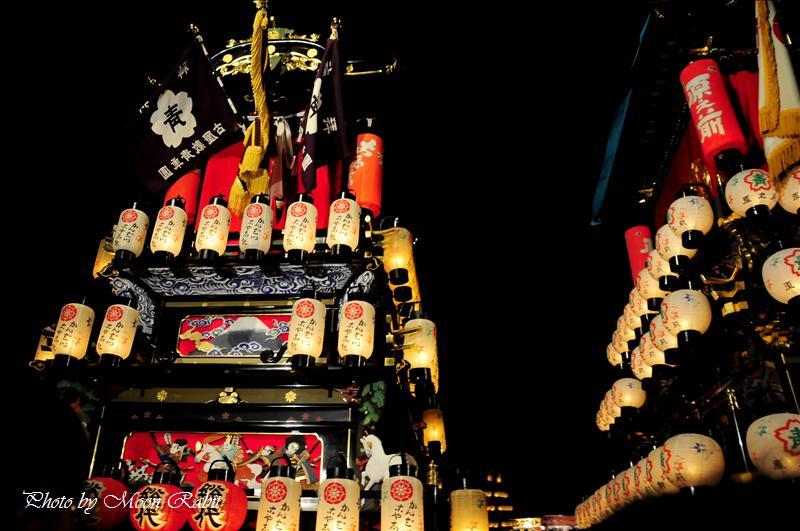 (西条祭り2008) 伊曽乃神社祭礼(例大祭、祭り) 御旅所(お旅所) その14 神拝地区 古屋敷(こやしき)だんじり(屋台) 西条市大南 御旅所(お旅所)前にて 2008.10.16