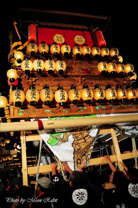 (西条祭り2008) 伊曽乃神社祭礼(例大祭、祭り) 御旅所(お旅所) その17 神拝地区 大町新町だんじり(屋台) 西条市大南 御旅所(お旅所)前にて 2008.10.16