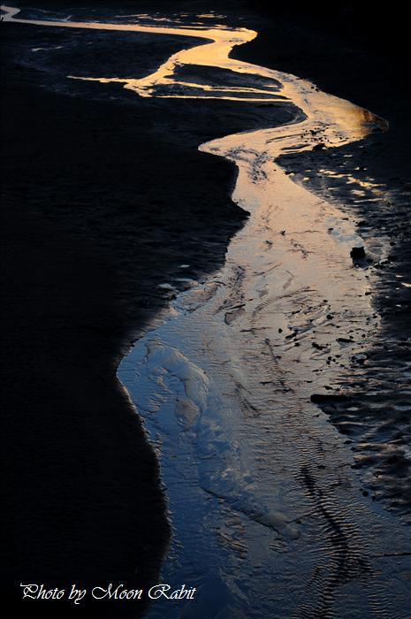 西条市の風景 中山川・新兵衛橋付近の夕暮れ 西条市氷見新兵衛 2008年12月28日