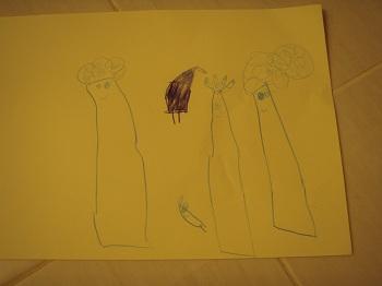 3歳最後のお絵かき