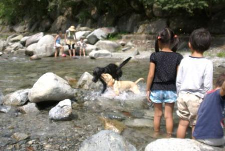 キャンプ 川