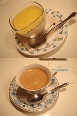 レアチーズケーキにJulius Meinl社のコーヒー